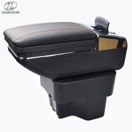 Wholesale New Update th For KIA K2 RIO armrest box PU Leather central Store content box with cup holder products accessories