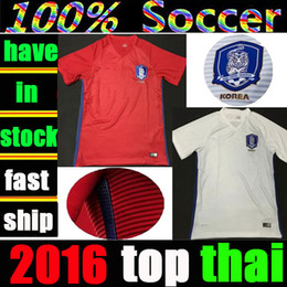 Wholesale Whosales Discount Korea Soccer Jerseys Republic of Korea Jersey Football Shirt custom Soccer Uniforms Son Heung Min