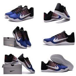 Wholesale with shoes Box Kobe XI men Basketball Shoes Sports Kobe XI Low Shoes BHM Multi Color Royal Black History Month Kids shoes
