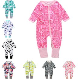 Wholesale boys girls clothes Fashion Jumpsuits Bamboo cotton baby romper newborn baby clothes leotard climbing clothing Rompers Kids Clothing