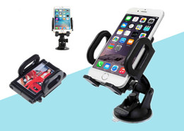 Wholesale New Hot Universal Rotation Car Windscreen Dashboard Car Phone Holder Stand Mount For GPS Cell Phones DHL
