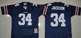 Wholesale Auburn Tigers Men Jerseys Bo Jackson White Navy Blue Mens College Football Throwback Jersey Size S XXL