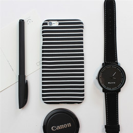 Casual Designer Cell Phone Cases Black and White Stripes Phone Cover for iphone 6s 6Plus 5s 90