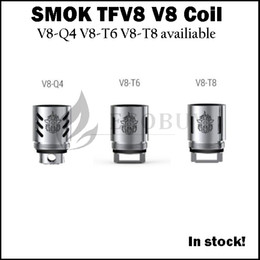 Wholesale 100 Original SMOK TFV8 replacement coil V8 Q4 V8 T6 V8 T8 coils heads for smoktech tfv8 Cloud Beast atomizer TFV MINI tank TFV8 baby TFV4