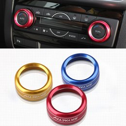2016 New Car Styling Aluminum 3PCS SET Air Conditioning Heat Control Switch knob AC Knob Case For Mazda CX-5 CX5 2014 2015 HXY0151