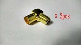 Wholesale 2 x Gold plated brass F Type Female to Male PAL RF Aerial TV Antenna Cable Plug