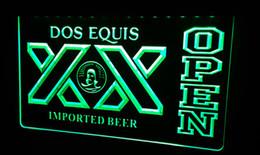 LS465-g Dos Equis Beer OPEN Bar Neon Light Sign