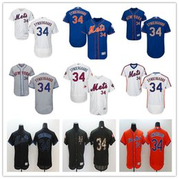 Wholesale 2016 NY Mets Noah Syndergaard Majestic New York MLB Baseball Jerseys Black White Orange Blue With Mr Mets Patch On Sale