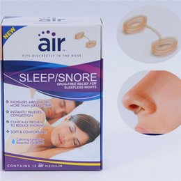 Snoring Cessation Anti-Snoring Silicon Free Nose Clip Snore Stop Stopper Device Health Sleep Anti Snoring 1pcs bag 12bag box F431