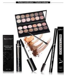 Wholesale QiBest Makup Sets for Eye Color Eye Shadow Mascara Eyeliner Pen Send Eyelash Brushes Super Affordable China Brand Makeup Set