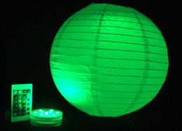 Fantastic RGB LED Waterproof Paper Lantern Light Wedding Party Favor Decoration Multicolor Decorative Base Light With Remote Controller