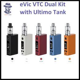 Evic vtc en Ligne-Original Joyetech eVic VTC Double Kit 75W / 150W eVic VTC Double TC Mod avec 4ML ULTIMO Tank MG Série Head Remplaçable Cover RTC