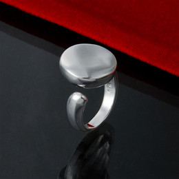 Factory direct wholesale snap jewelry 925 sterling silver ring opening of solid O fashion Sterling Silver Ring