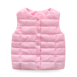 2017 New Children's Down Vest Autumn And Winter Kids Waistcoats Casual Clothing 6 Colors For 3-8 Years Children Jacket Coat