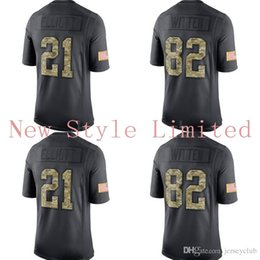 Wholesale Hot Limited Cowboys Dak Prescott Ezekiel Elliott Jason Witten Black Admiral Salute To Service Stitched Embroidery Football Jerseys