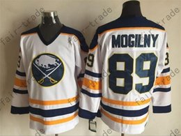 Wholesale uffalo Sabres Alexander Mogilny White Ice Winter Jersey Cheap Hockey Jerseys Authentic Stitched Size