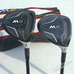 Wholesale New mens Golf Clubs M2 Golf fairway wood loft Graphite Golf shaft and headcover wood clubs