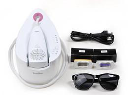 Descuento máquinas de láser usados en venta Portátil IPL depilación láser de belleza RF máquina Cuidado de la Piel Inicio Uso Cuerpo de la cara del removedor del pelo para la venta