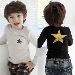 Full Sleeve Autumn Spring Baby Boys Clothes Children T-Shirts Kids Bottoming Shirts Boy Tees Shirts Star T Shirt for boy Tops