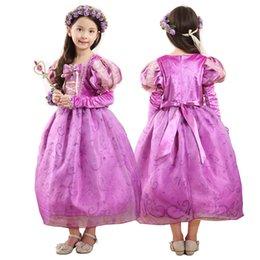 Prettybaby filles princesse robes de fête 5 couches de cosplay costume enfants enfants Tangled Rapunzel luxueuse dentelle tutu robe cadeau de bébé Pt0361 # à partir de dentelle en couches robe tutu enfants fournisseurs