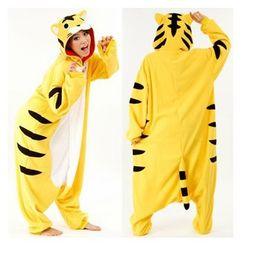 Wholesale Yellow Tiger Popular New Adult Animal Pajamas Winter Sleepsuit Sleepwear Pajamas Unisex for Party Clothes