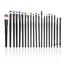 Wholesale Cheap Wholesale Tools Prices - Hot Sale Cheap Price 20 Pcs Black Eye Shadow Brush Set Makeup Brush Sets Long Pole Makeup Brushes Beauty Tools Free Shipping