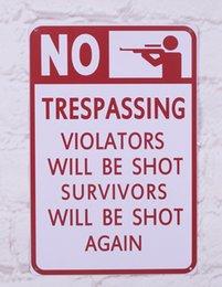 Wholesale Tin Sign quot No Trespassing quot Plaques Metal Poster Decor Art quot x12
