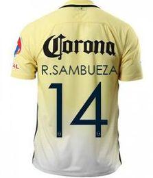 Wholesale America 2016 Home 14 Sambueza Thai Quality soccer jersey ,Football Shirts New Kit,Sportswear, Cheap 24 Oribe Peralta Soccer Jersey