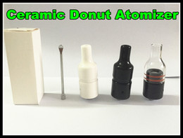 Wholesale Ceramic Donut Atomizer The kiln by atmos Atomizer no coil no wick vaporizer wax concentrate vaporizer tank smoking wax oil burning device