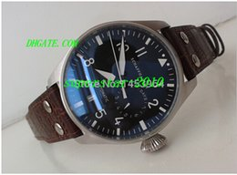 Wholesale Luxury Watches Sapphire Power Reserve Big Pilot Day Day Black Dial Automatic Men s Watch Watches Leather Bracelet