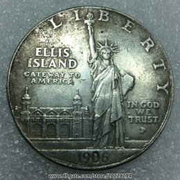 Wholesale replica LIBERTY ELLIS ISLAND INGOD WE TRUST P mm g Feng Shui Lucky coins Buy or more free gifts