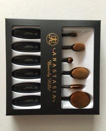 Wholesale Dropshipping Anastasia High Grade black toothbrush shape set Professional Artist Synthetic Hair Makeup Brushes Sets Kits