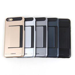 Wholesale Credit Card Duty Guard ShockProof Impact Armor Case For Apple iPhone s Plus quot Armor Silicone PC Rubber Phone Case