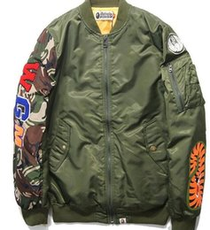 Wholesale Shark Coat for men women best hip hop Autumn Winter jackets embroidery shark windbreaker baseball camo camouflage military sport