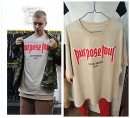 Wholesale Purpose Tour Summer Fashion Short Sleeve T shirt Men Women Cotton O Neck Lovers Tees Justin Bieber Fear Of God Letter T Shirt