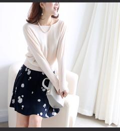 Wholesale 100 Australian soft wool imports comfortable small bat sleeve sweater female