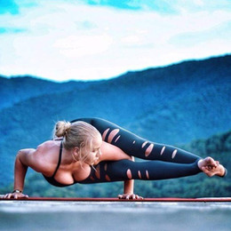 2017 New style fashion hollow women high waist yoga fitness leggings running gym outdoor sports fitness pants
