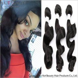 Wholesale Brazilian Loose Wave Wavy Hair Extensions Magic hair Extensions brazilian hair weave hot beauty hair product ali queen