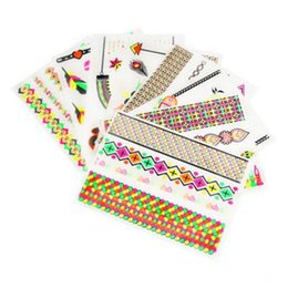 Wholesale Europe Fashion Candy Glow Color Metallic Temporary Body Tattoos Stickers