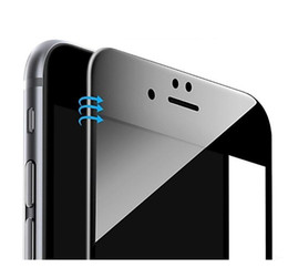 Wholesale For iPhone Glossy Carbon Fiber D Curved Edge Coated Tempered Glass For iPhone S Plus Phone Screen Protector Film