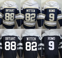 Wholesale Cowboys hoodies cheap football jerseys hoody sweatshirts Dallas BRYANT WITTEN ROMO navy freeshipping