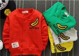 Wholesale new baby boys cotton jacket coat boys casual Banana signage