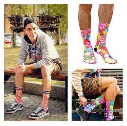 Wholesale New Fashion Socks For Men basketball socks sport socks Personalized Candy D Printing Food Men Socks B0450