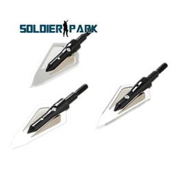 Wholesale 3Pcs Shooting Arrowhead Broadheads Dirt Nap Gear Hunting Accessories High Speed Metal Fixed GRAIT Black Arrowhead order lt no track
