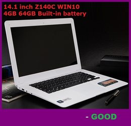 HOT 14.1 inch ultrabook slim laptop computer Itel Atom X5-Z8300 Z140C Quad-core laptop 4GB 64GB WIFI Windows 10 laptop notebook