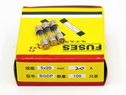 100pcs lot 20A 5*20MM Fuses Fast Quick Blow Glass Tube Fuse 5x20mm 250V 20A F20AL250V