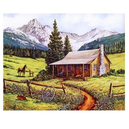 New Special Offer 3d Diy Diamond Painting 100% Full Area Highlight Needlework Hand Embroidery Cross Stitch Leisure Ranch D278