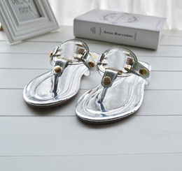 Wholesale Hot sales _T_B WOMEN S SHOES FLAT SANDALS SLIPPERS SIZE White black gold silver