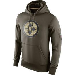 Wholesale new arrival cheap nice football hoodies Pittsburgh sweatshirts fashion retro hoodies size M XL