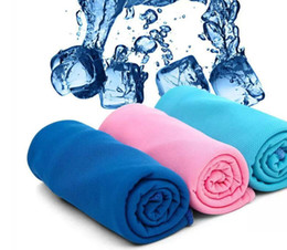 Wholesale Gifts package Cold Towel Summer Sports Ice Cooling Towel Double Color Hypothermia cool Towel cm for sports children Adult free ship